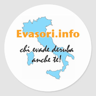 Evasori.info: adesivi piccoli round sticker
