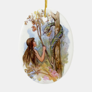 Eve And The Serpent Christmas Ornament