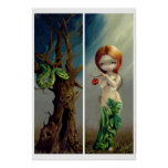 Eve and the Tree of Knowledge ART PRINT gothic