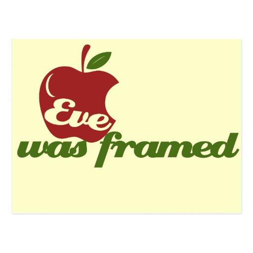 Eve was Framed Postcards