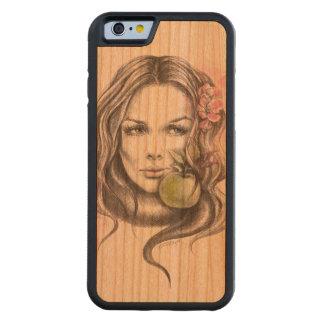 Eve|Woman portrait with apple Phone wood case Cherry iPhone 6 Bumper Case