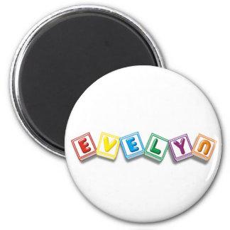 Evelyn 6 Cm Round Magnet