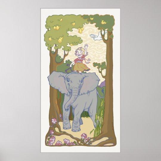 Evelyn Elephant Poster