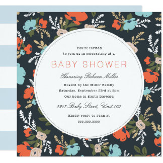 Evelyn Floral Baby Shower Card