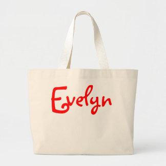 Evelyn - Jumbo Canvas Tote