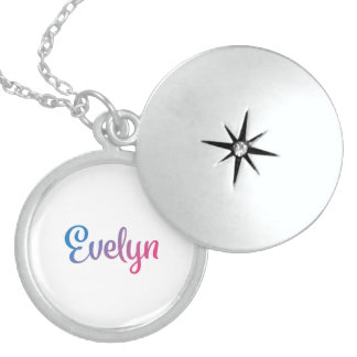 Evelyn Stylish Cursive Locket Necklace