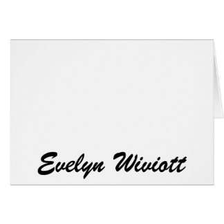 Evelyn Wiviott Card