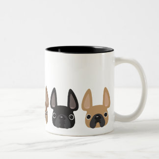 Even 5 more little frenchies Two-Tone coffee mug