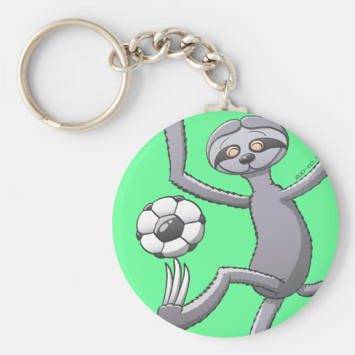 Even a Sloth Can Play Soccer Like the Best Key Chain