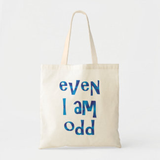 even I to odd Canvas Bags