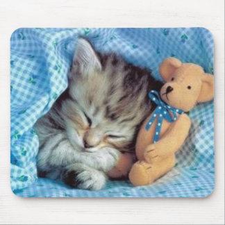 Even Kittens Love Teddybears Mouse Mat