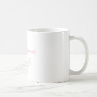 even mermaids need coffee pink script coffee mug