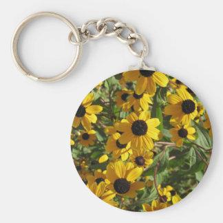 (Even More) Black Eyed Susans at Longwood Gardens Basic Round Button Key Ring