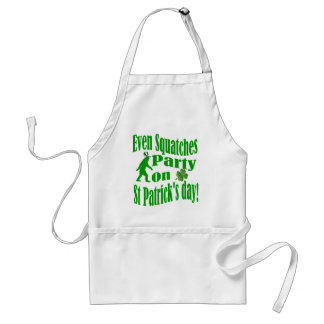 Even Squatches party on St Patrick's day Standard Apron