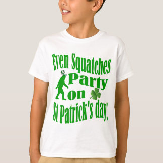 Even Squatches party on St Patrick's day T-Shirt