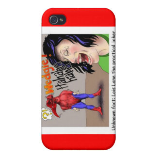 Even Superheroes Get Wedgies Funny Gifts Mugs Etc iPhone 4 Cover