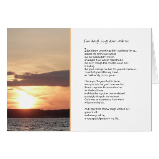 Even though things didn't work outRelationships Card