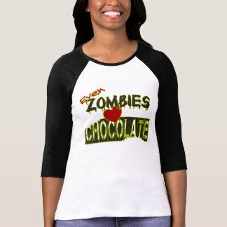 Even Zombies Heart Chocolate Tee Shirts
