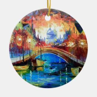 Evening Amsterdam Christmas Ornament