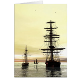 'Evening at Anchor' Card