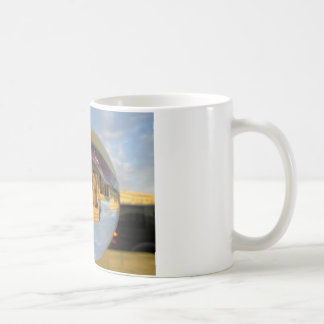 Evening at Brandenburg Gate, Berlin, crystal ball Basic White Mug