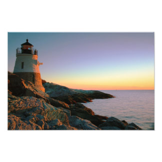 Evening at Castle Hill Lighthouse Photo Print