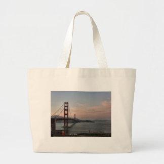 Evening at Golden Gate Bridge Jumbo Tote Bag