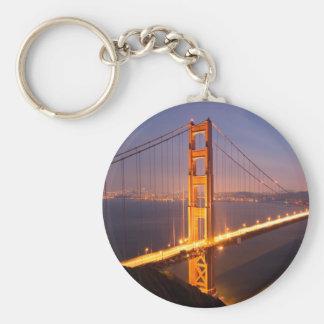"""""""Evening at Golden Gate Bridge"""" keychains"""