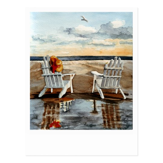 Evening at the Beach Postcard