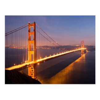 Evening at the Golden Gate Bridge postcard