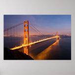 """Evening at the Golden Gate Bridge"" poster/print Poster"