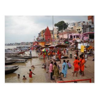 Evening Bath At Varanasi Postcard