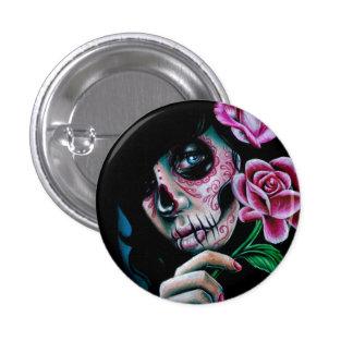 Evening Bloom Sugar Skull Girl Pin