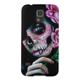Evening Bloom Sugar Skull Girl Galaxy S5 Case