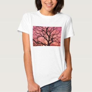 Evening Blush Tree Silhouette T Shirts