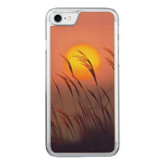 Evening By The Sun | Carved iPhone 7 Wood Case