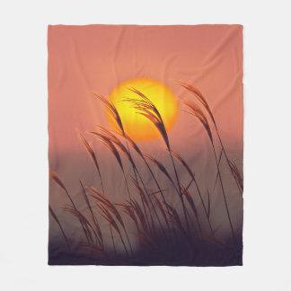 Evening By The Sun |  Fleece Medium Blanket