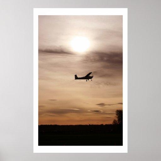 Evening Cessna 182 Poster