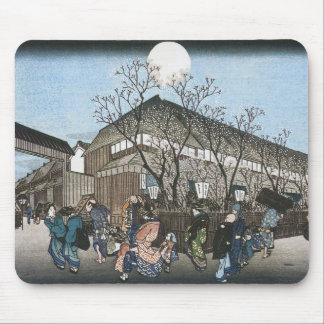 Evening Cherry at Nakanocho, Hiroshige, 1834-35 Mouse Pad