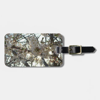 Evening Cherry Blossoms II Flowering Spring Tree Luggage Tag