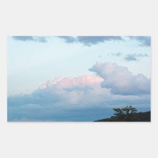 Evening Clouds Rectangular Sticker