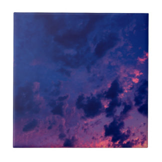Evening clouds tile
