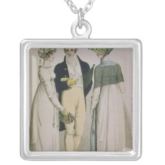 Evening Dresses for illustration Silver Plated Necklace