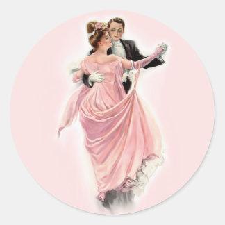 Evening Elegance Classic Round Sticker
