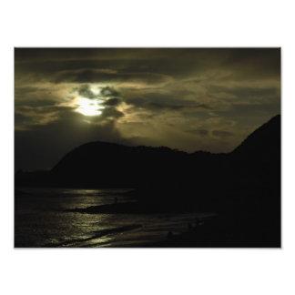 Evening Falls at Lyme Regis Photo Print