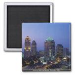 Evening falls over Atlanta, Georgia, U.S.A. Square Magnet