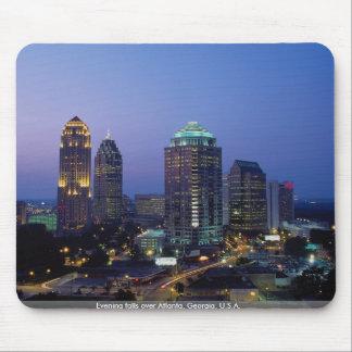 Evening falls over Atlanta, Georgia, U.S.A. Mouse Mat