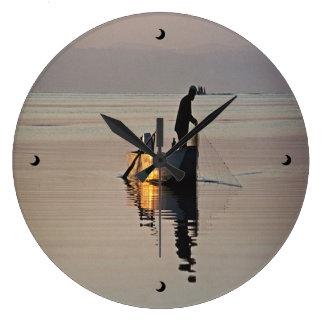 Evening Fishing Clock