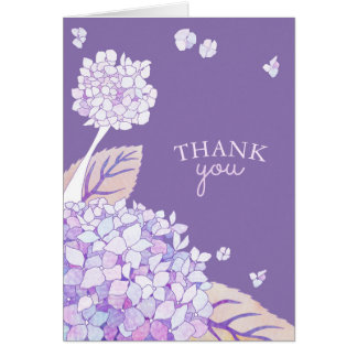 Evening Garden Hydrangeas Business Thank You Card