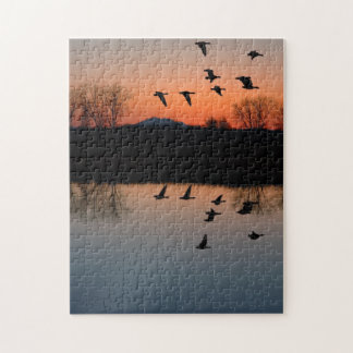 Evening Geese Jigsaw Puzzle